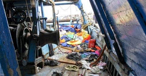 Barcos abandonados em Lampedusa