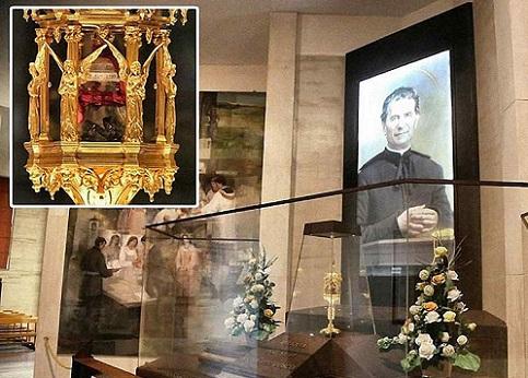 Relíquia com cérebro de Dom Bosco é recuperada na Itália