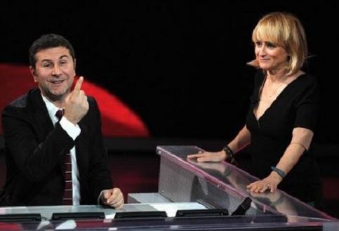 Os apresentadores Fabio Fazio e Luciana Littizzetto