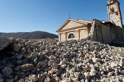 Destruição após terremoto