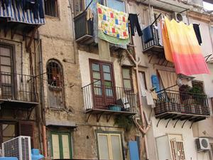Fachada de casas características de Palermo