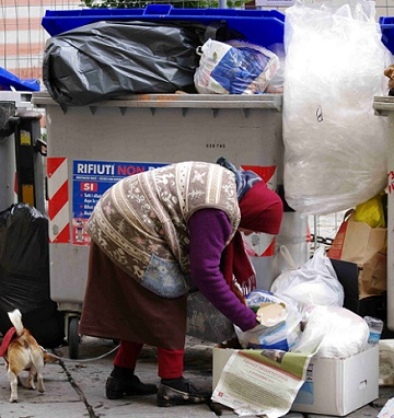 Pobreza atinge 1,5 milhão de famílias na Itália