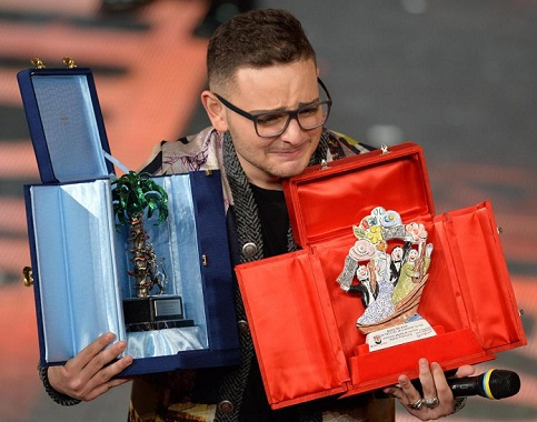 Rocco Hunt, o grande vencedor na categoria Novas Propostas