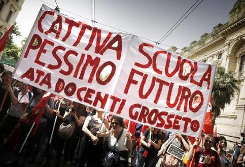 Protesto contra reforma na educa��o italiana
