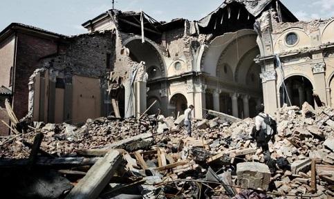 Terremoto causou grave prejuízo na Itália