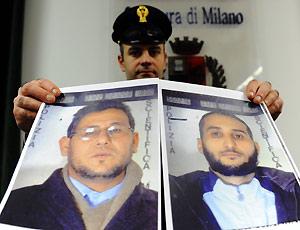 Imagem dos dois marroquinos acusados de terrorismo
