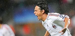Inzaghi faz os dois gols na vitória do Milan e amplia para 68 o número de gols dele na história da Champions League