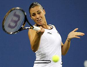 A bela tenista italiana, Flavia Penetta, lutou mas não conseguiu superar a favorita norte-americana Serena Williams