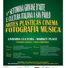 Convite da 1a Settimana Giovane D'Arte e Cultura Italiana a San Paolo