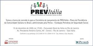 Convite de lançamento do Previtalia
