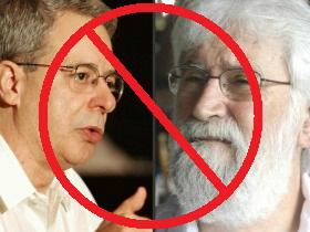 Frei Betto e Leonardo Boff - líderes da Teologia da Libertação